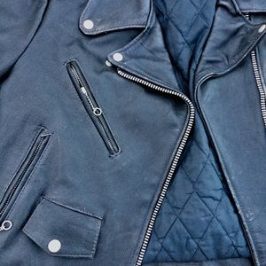 Jackets & Blazers - Vintage, well worn real leather moto jacket size14
